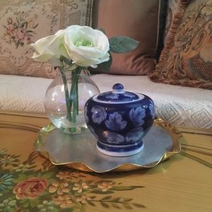Other - Vintage Blue And White Petite Ginger Jar